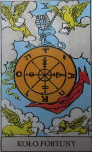 Tarot - karta Koło Fortuny