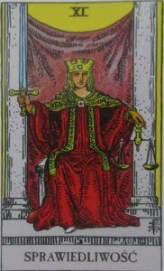 Tarot - karta Sprawiedliwość