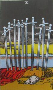 Tarot - karta 10 mieczy