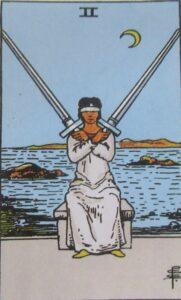 Tarot - karta 2 miecze