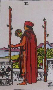 Tarot - karta 2 buławy