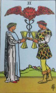 Tarot - karta 2 kielichy