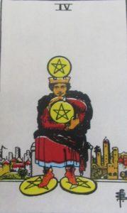 Tarot - karta 4 denary