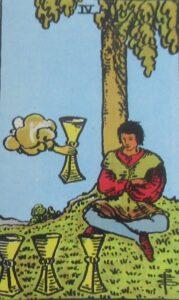 Tarot - karta 4 kielichy