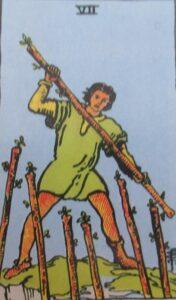 7 buław - karta Tarota