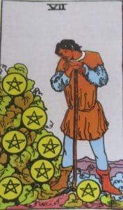 7 denarów- karta Tarota