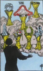 Tarot - karta 7 kielichów