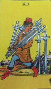 7 mieczy - karta Tarota
