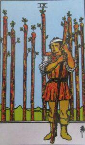 9 buław - karta Tarota