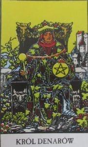 Król denarów - karta Tarota