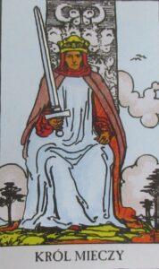 Król mieczy - karta Tarota