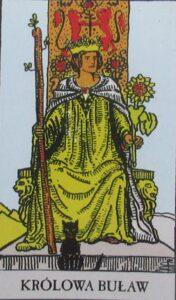 Królowa buław - karta Tarota