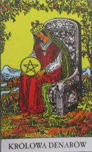 Tarot - karta królowa denarów