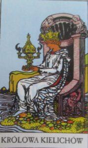 Tarot - karta królowa kielichów