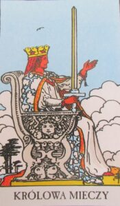 Tarot - karta królowa mieczy