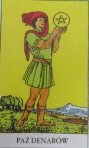 Tarot - karta Paź denarów